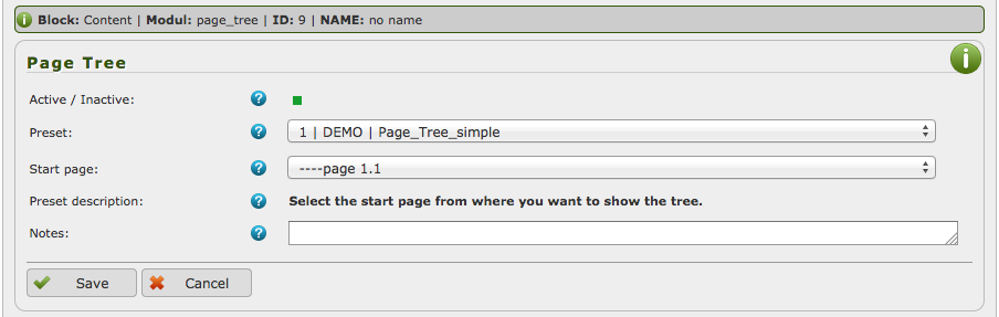 Page Tree backend